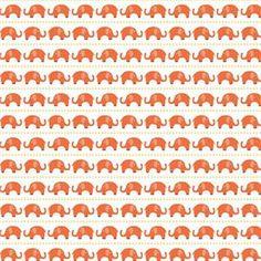 Oh Boy Boy Elephants in Orange by Riley Blake Designs C3301-ORANGE
