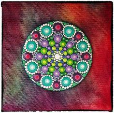 Mini Original Round Painting Jewel Drop Mandala by ElspethMcLean, $26.00