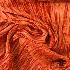 Rust Orange, Orange Brown, Light Orange, Orange Color, Orange Aesthetic, Orange You Glad, Orange Fabric, Printed Silk, Fashion Fabric