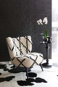 TODD chair.  Upholstered in handwoven Moroccan rug #chair
