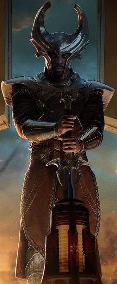 No cameo of this guy on Agents of S.H.I.E.L.D., alas (at least not yet!), but this is such a cool image of Heimdall that I have to pin it.