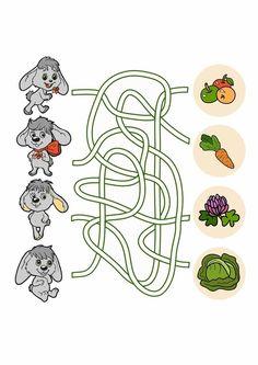 Tipss und Vorlagen: Mazes for kids printable preschool Expirements For Kids, Hand Crafts For Kids, Puzzles For Kids, Kids Mazes, Logic Games For Kids, Free Math Games, Mazes For Kids Printable, Worksheets For Kids, Kindergarten Activities