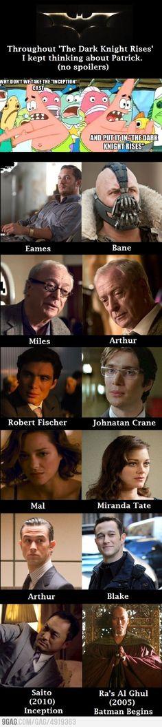 Inception within Batman (Arthur and Robert Fisher...rrrrrr....)