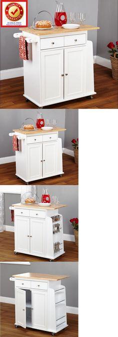 Kitchen Islands Kitchen Carts 115753 Kitchen Storage Cart Black