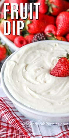 2 Ingredient Fruit Dip – Spend With Pennies This easy 2 ingredients fruit dip is perfect to whip up for company. Just combine cream cheese and marshmallow fluff, mixing until smooth. Then serve with a fruit tray, cookies, or wafers! Cool Whip Fruit Dip, Easy Fruit Dip, Fruit Dips, Fruit Dip Healthy, Fruit Fruit, Fruit Trays, Fruit Salad, Marshmallow Fluff Fruit Dip, Fruit Fluff Dip