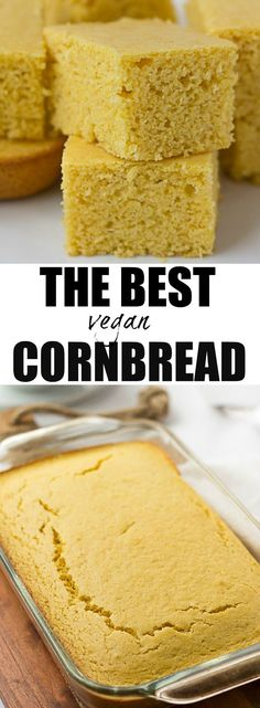 The Best Vegan Cornbread | Perfectly moist, sweet and the right amount of cornbread texture. Just like mom used to make, but vegan! via @noracooks