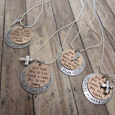 Memorial Necklace Keepsake In Memory of Son by JadeVineJewelry Memorial Gifts, Memorial Jewelry, Funeral Gifts, Loss Of Loved One, Sympathy Gifts, Memorial Flowers, Funeral Flowers, Hand Stamped Jewelry, Shaun Wallace