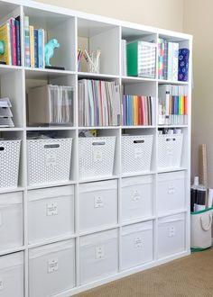 Scrapbook Storage, Scrapbook Organization, Craft Organization, Sewing Room Storage, Craft Room Storage, Sewing Rooms, Space Crafts, Home Crafts, Craft Cabinet