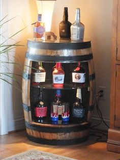 Bourbon+Barrel+Displays+by+BluegrassBourbonBarr+on+Etsy,+$450.00