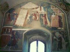 Affreschi di tema profano. 1305. Torre  del Popolo di San Gimignano