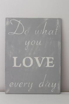 Wood Wall Art Sign Vintage Style Do What You Love by InMind4U