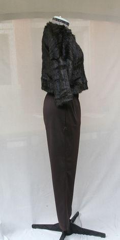 Pantalon droit marron pour femme en jersey Milano : Pantalons, jeans, shorts par…