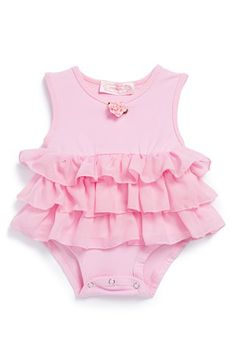 Popatu Ruffle Bodysuit (Baby Girls) available at #Nordstrom