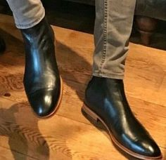 #high_ankle #genuine #chelsea #black #handcrafted #leather_boots #chelsea_leather_boots