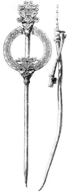 Кольцевидная фибула с длинной иглой, орнаментированная в стиле Борре (М 1:1)