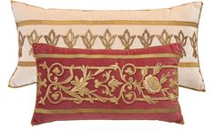 BVis antique pillows, Rebecca Visazard pillows, antique textile pillows, antique velvet pillows,