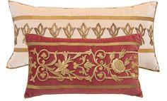 BVis antique pillows, Rebecca Visazard pillows, antique textile pillows, antique velvet pillows,