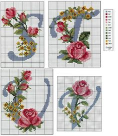 Cross Stitch Alphabet Patterns, Cross Stitch Letters, Cross Stitch For Kids, Cross Stitch Bookmarks, Cross Stitch Cards, Cross Stitch Rose, Cross Patterns, Hand Embroidery Patterns, Cross Stitching