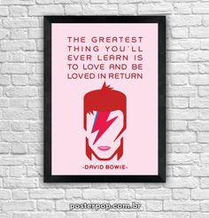 "Poster ""Bowie Greatest Love"""