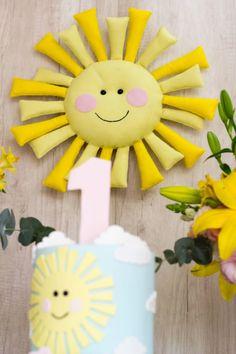 You are my sunshine foi o tema inusitado da nossa última festa.Tema alegre +paleta de cores incrível+ liberdade pra criar = festa encantadora