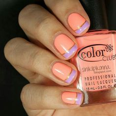 Nail Art, love these colors together