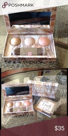 """🌺NEW! AUTHENTIC URBAN DECAY ILLUMINATED TRiO BRAND NEW! AUTHENTIC URBAN DECAY """"NAKED"""" ILLUMINATED TRIO SHIMMERING POWDER FOR FACE & BODY!! NEVER SWATCHED OR USED! EXCELLENT NEW CONDITION!! Urban Decay Makeup Face Powder"""