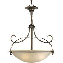 View the Progress Lighting P3869 Nocera Three-Light Bowl Pendant with Pebbled Topaz Glass Bowl at LightingDirect.com.