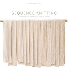 Sequence Knitting - oooohhhhhh this looks gorgeous - definitely  a worthy addition to my knitting library