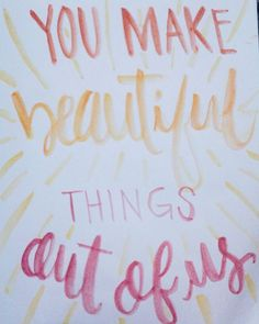 Create as many beautiful things. #art #calligraphy #handlettering #brushlettering  #watercolor #quotes #inspirational #vsco #vscoph #vscocam