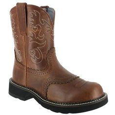 """Ariat Women's Fatbaby Scalloped 8"""" Western Boots"""