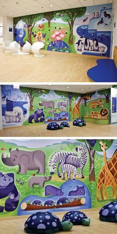 Play area Lincoln Park Zoo Floor at Ann & Robert H. Lurie Children's Hospital of Chicago.