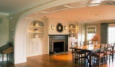 Casual Dining Room like the casual yet traditional dining table
