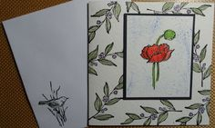 Stamped card with Poppy
