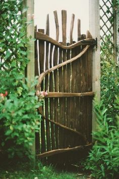 Inspiring Rustic Garden Gates Design Ideas Inspiring Rustic Garden Gates Design IdeasInspiring Rustic Garden Gates Design IdeasGarden gates and fence offer an attractive landsca Garden Gates And Fencing, Garden Doors, Garden Paths, Garden Art, Fence Gate, Herb Garden, Decorative Garden Fencing, Wooden Garden Gate, Wooden Fence
