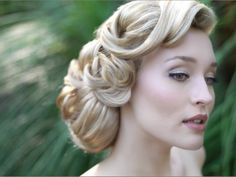 retro, wedding hair, updo