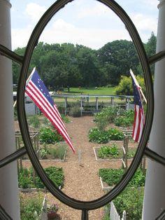 Bird's Eye View of the Demonstration Garden at George Washington's Boyhood Home