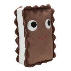 "Kidrobot 13"" Yummy Ice Cream Sandwich. OMG I just saw these at Barnes & Noble, I love the food theme stuffed animals!"
