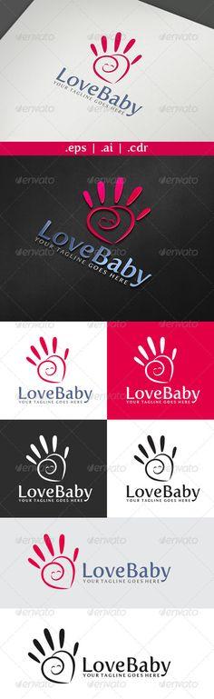 Love Baby Logo Design Template Vector #logotype Download it here: http://graphicriver.net/item/love-baby-logo/3727674?s_rank=257?ref=nexion