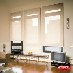 cortina rolo para sala pra janela grande