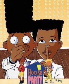 This is so dope Black Cartoon Characters, Black Girl Cartoon, Dope Cartoon Art, Dope Cartoons, Cartoon Drawings, Cartoon Clip, Black Love Art, Black Girl Art, Art Girl
