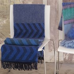 Indupala Indigo Throw/ designers Guild