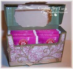 Tea box tutorial