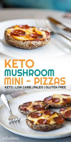 So quick and easy, these keto pizza bases are made from portobello mushrooms for a quick, filling, keto friendly snack or light meal. Keto pizza without the carbs!   #keto #ketosis #diet #cleaneating # ketodiet #ketogenicdiet #weightloss #loseweight