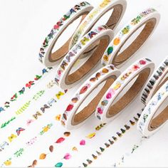 Natural Collection Thin Washi Tape Decorative Masking Paper Craft Trim Novelty #Unbranded