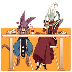 Beerus and Whis. #dbz
