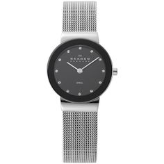 Skagen Ladies' Steel Collection Glitz Watch (480 DKK) ❤ liked on Polyvore