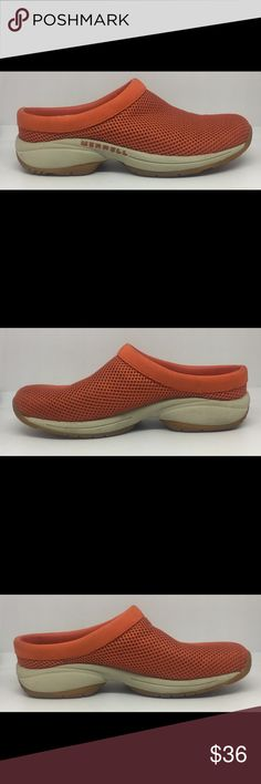 Merrell Women's Primo II Clogs Orange Shoes Sz 8 Worn a few times. Little wear. Good Condition. See Pictures. Bin 9 B89 Merrell Shoes Mules & Clogs