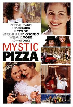 Mystic Pizza is a movie directed by Donald Petrie, released in with Annabeth Gish, Julia Roberts, Lili Taylor, Vincent D'Onofrio. Three teenage girls come of age while working at a pizza parlor in Mystic Connecticut. Julia Roberts, Teen Movies, Old Movies, Great Movies, Matt Damon, Love Movie, Movie Tv, Movies Showing, Movies And Tv Shows