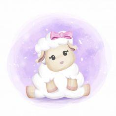 adorable cute baby sheep girl, Adorable, Animal, Animal Print PNG and Vector Sheep Cartoon, Baby Cartoon, Cute Cartoon, Baby Sheep, Cute Sheep, Baby Animal Drawings, Cute Drawings, Girl Holding Balloons, Sheep Drawing