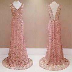 vestido longo de guipir com brilho